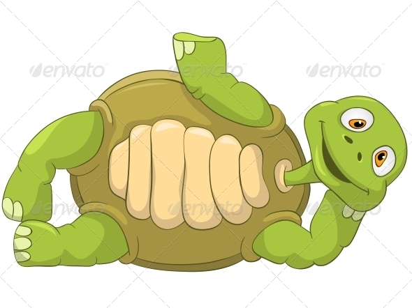 Turtle Laying - Animals Characters
