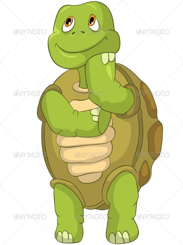 Turtle Thinking - Animals Characters