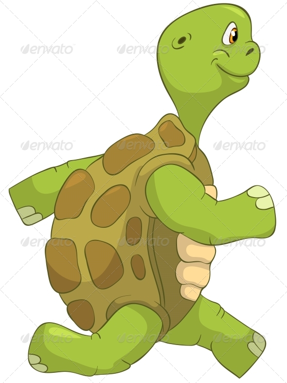 Turtle Running - Animals Characters