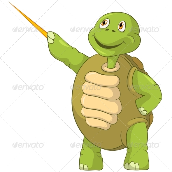 Turtle Showing - Animals Characters