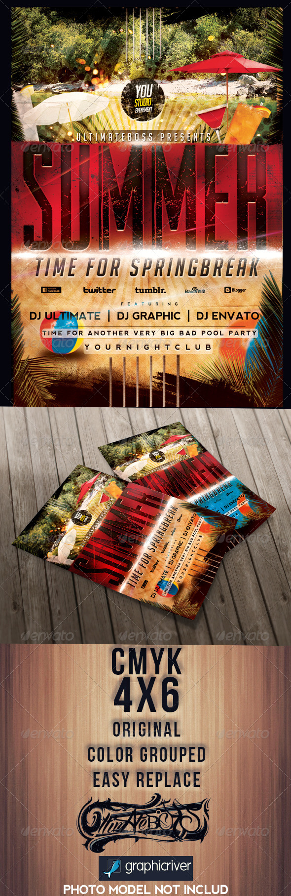Summertime Springbreak - Events Flyers