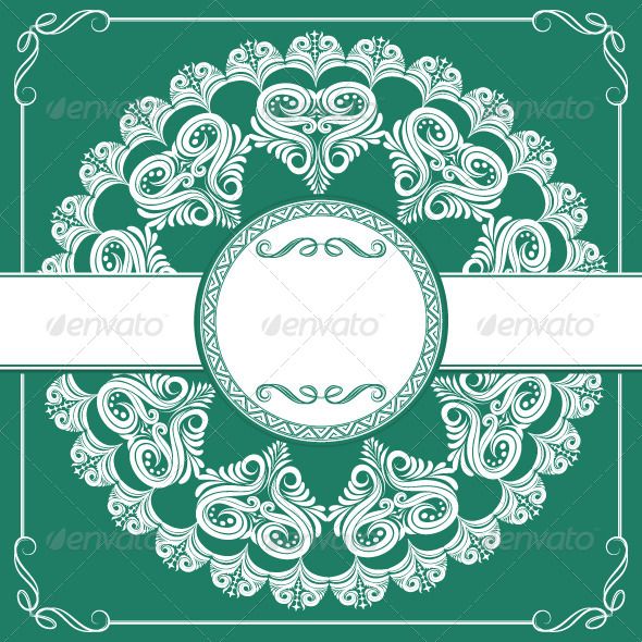 Circle Invitations Ornament - Borders Decorative