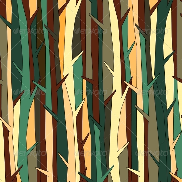 Trees Pattern Background - Backgrounds Decorative