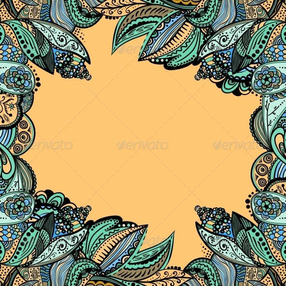 Vector Vintage Floral Pattern - Backgrounds Decorative