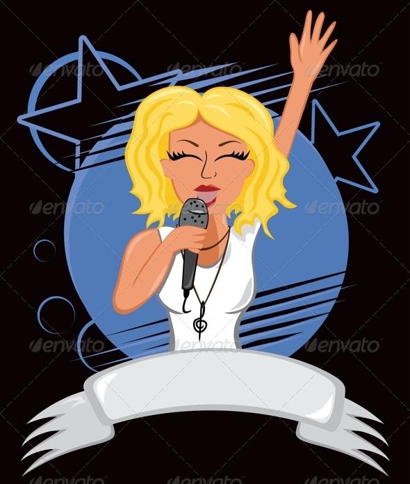 Karaoke Poster - People Characters