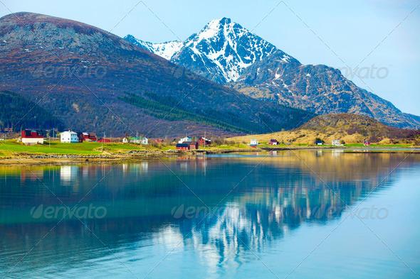 Norwegian fjord - Stock Photo - Images