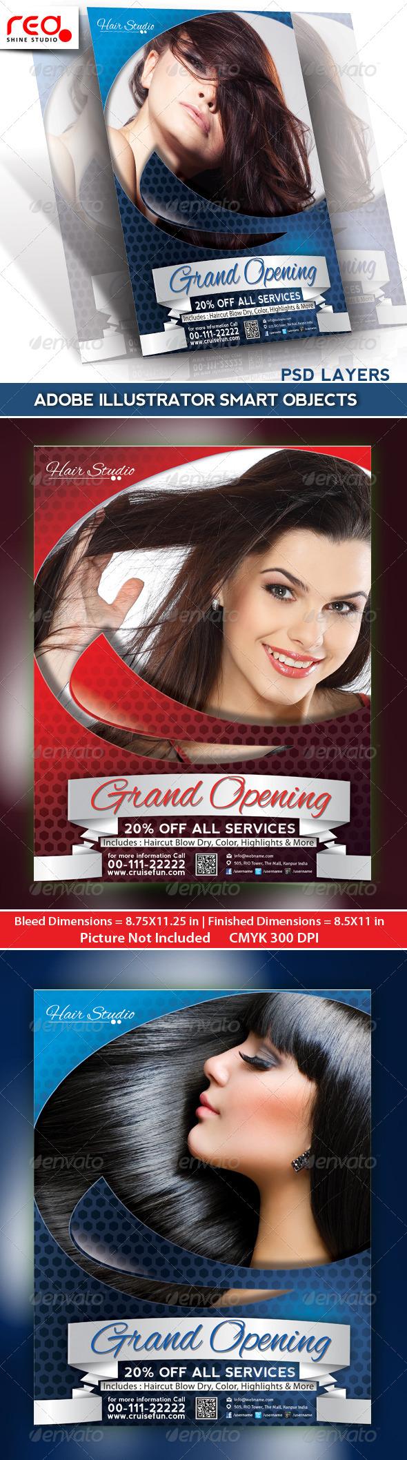 Hair Dresser Flyer/Poster Magazine Template  - Commerce Flyers