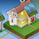 Isometric House with Solar Panel - VideoHive Item for Sale