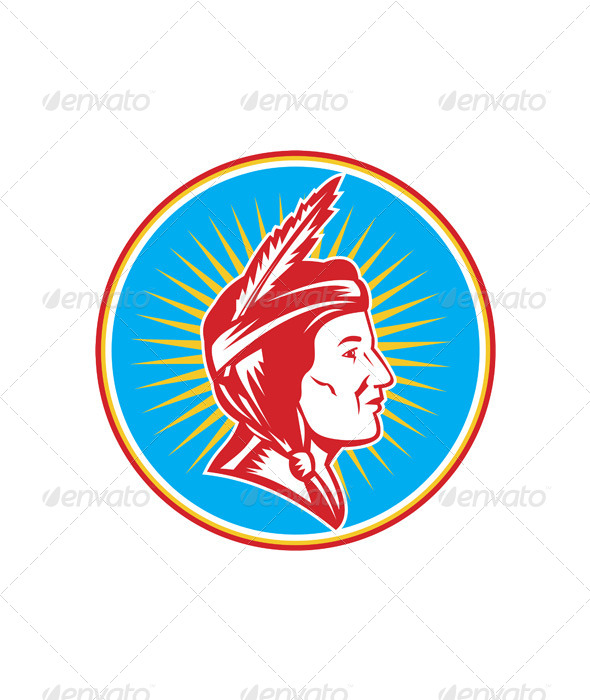 Native American Indian Squaw - People Characters