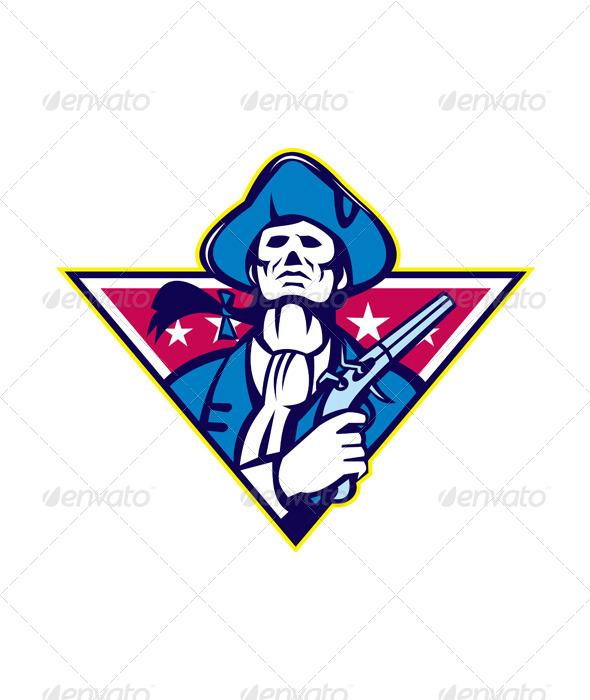 American Patriot Minuteman Flint - People Characters