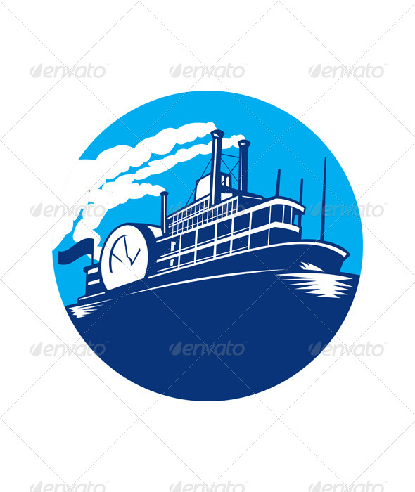 Steamboat Ferry Passenger Ship  - Man-made Objects Objects