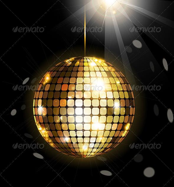 Shining Disco Ball - Decorative Symbols Decorative