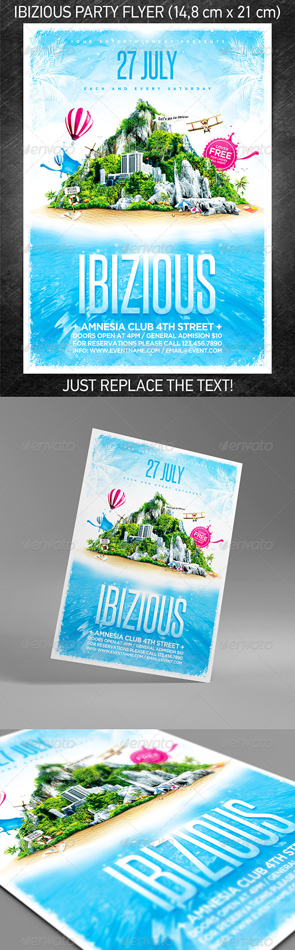 Ibizious Party Flyer - Clubs & Parties Events