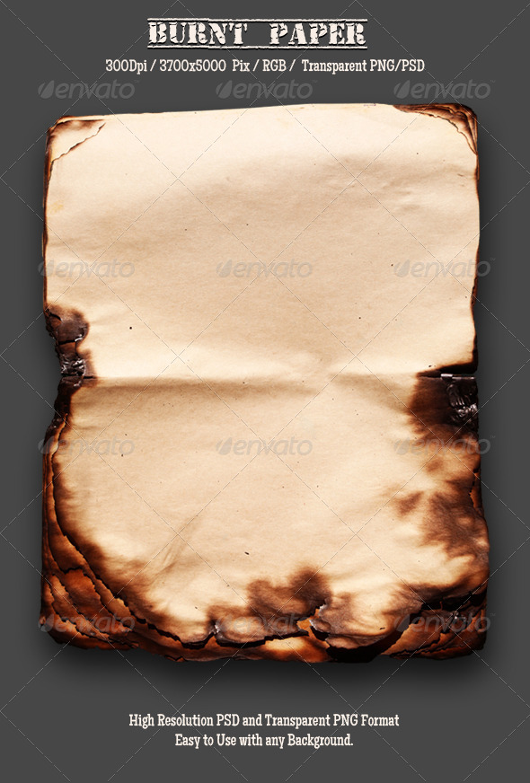 Burnt Old Paper 15 - Miscellaneous Isolated Objects