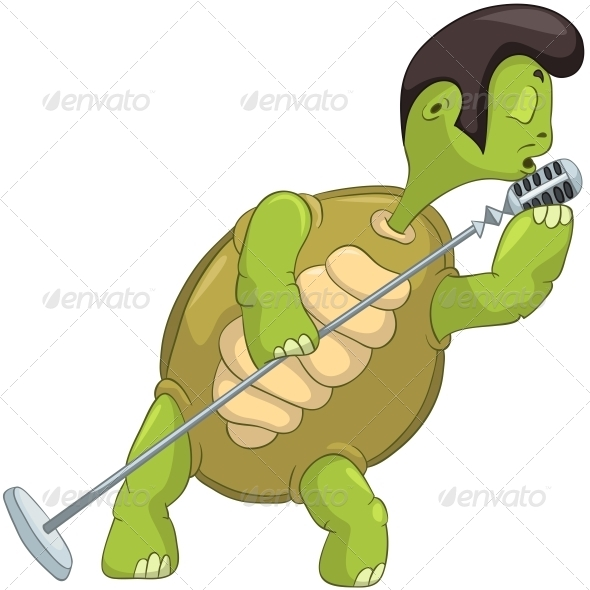 Turtle Singing. - Animals Characters