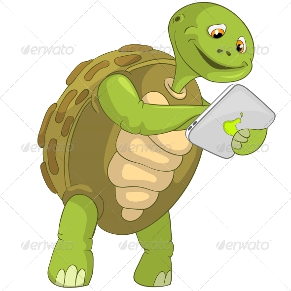 Turtle. Touch Screen. - Animals Characters