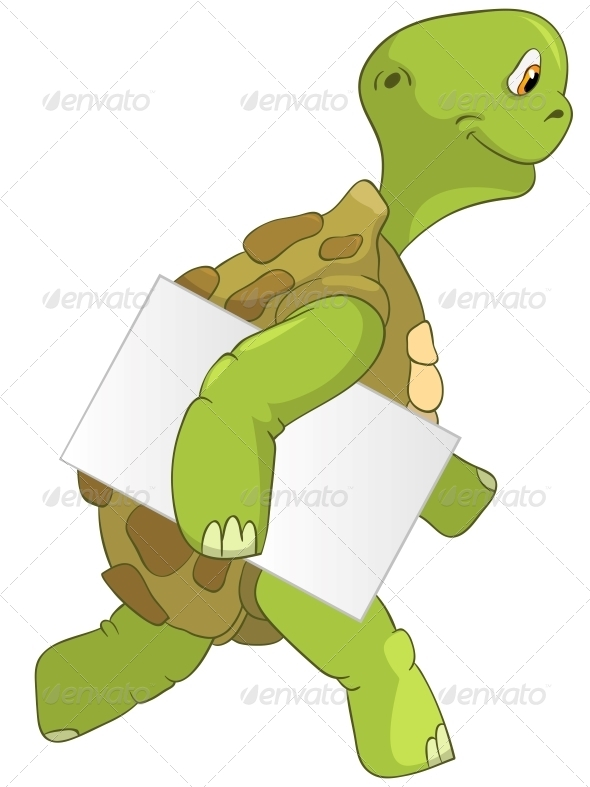 Turtle. Courier. - Animals Characters
