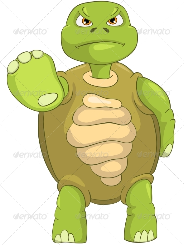 Turtle. Stop. - Animals Characters