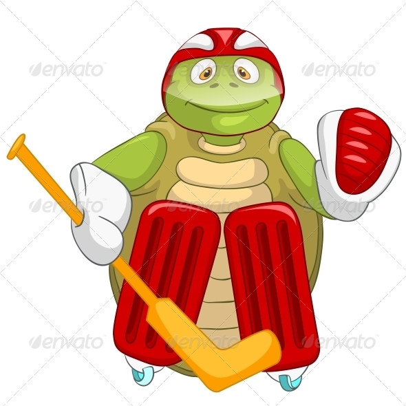 Turtle. Hockey Goalie. - Animals Characters