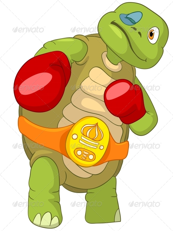 Turtle. Boxer. - Animals Characters