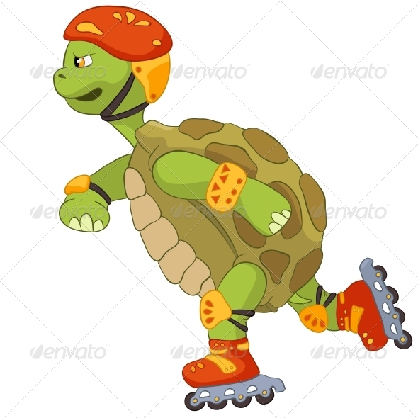 Turtle. Roller. - Animals Characters