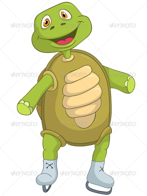 Turtle. Skater. - Animals Characters