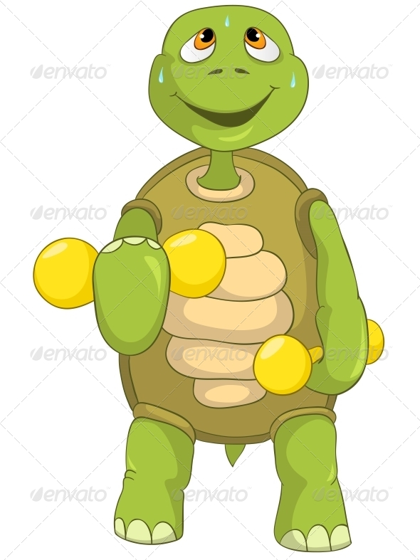 Turtle. Gym. - Animals Characters