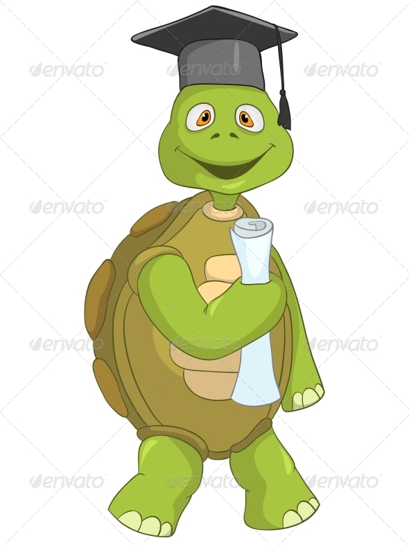 Turtle. Student. - Animals Characters