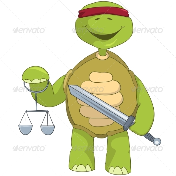 Turtle. Law. - Animals Characters