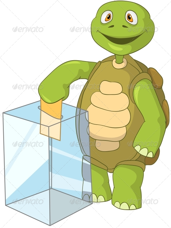 Turtle. Election. - Animals Characters
