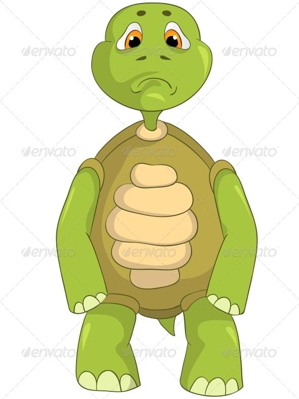 Sad Turtle. - Animals Characters