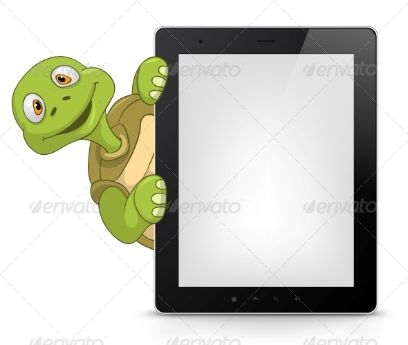 Tablet Turtle - Animals Characters