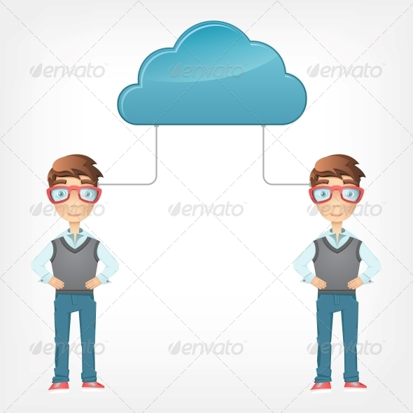 Cloud Concept. - People Characters