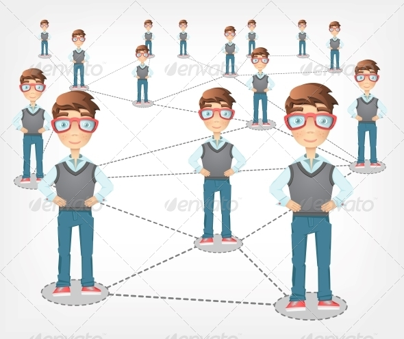 Social Network. - People Characters