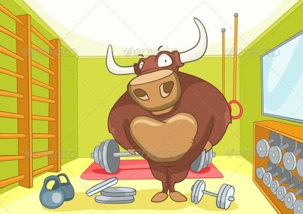 Cartoon Character Bull - Animals Characters