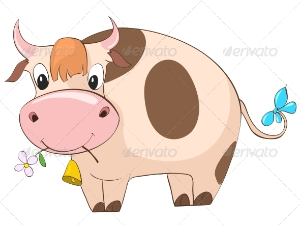Cartoon Character Cow - Animals Characters