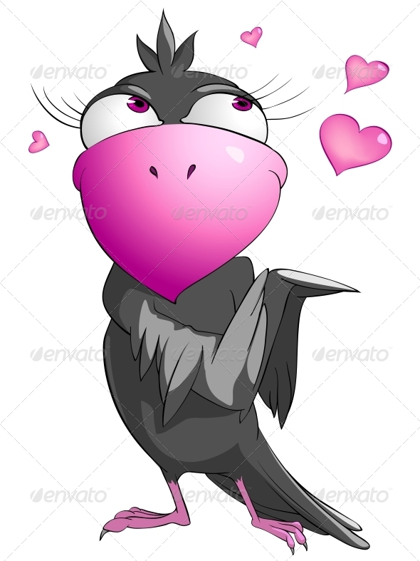 Cartoon Character Funny Bird - Animals Characters
