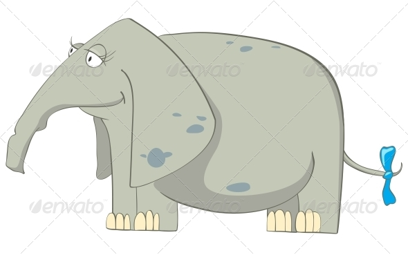Cartoon Character Elephant - Animals Characters