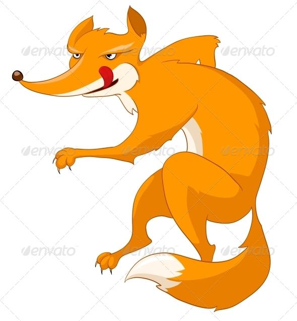 Cartoon Character Fox - Animals Characters