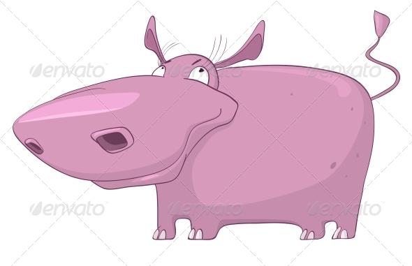 Cartoon Character Hippopotamus - Animals Characters