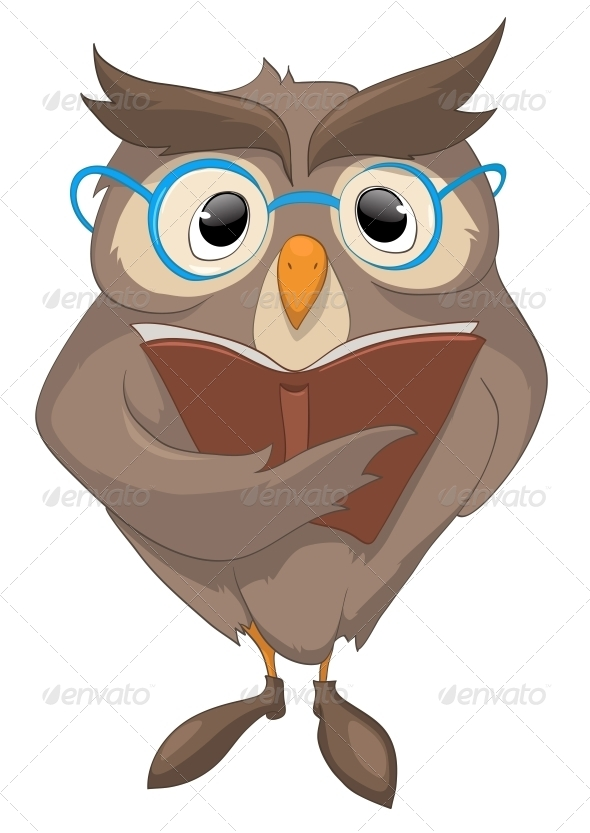 Cartoon Character Funny Owl - Animals Characters
