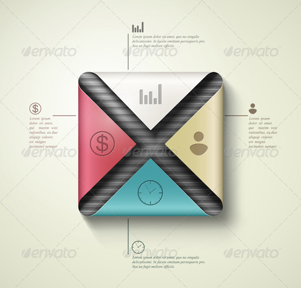 Square banner infographics - Infographics