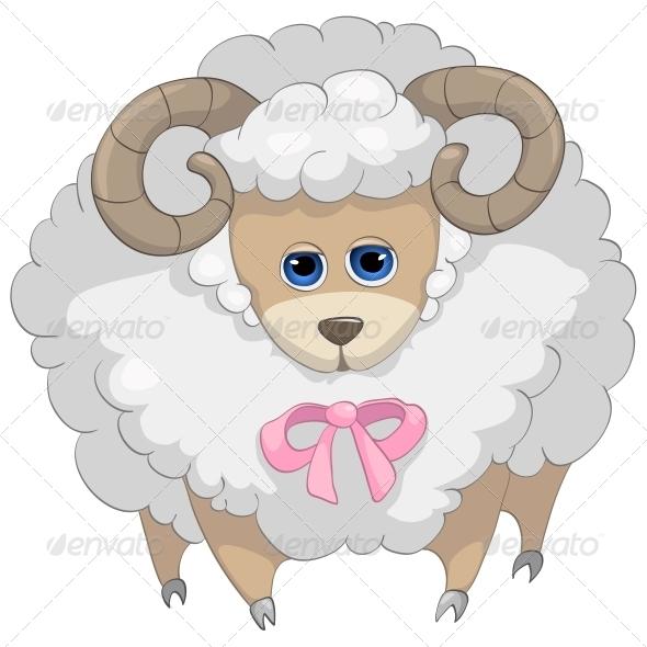 Cartoon Character Sheep - Animals Characters