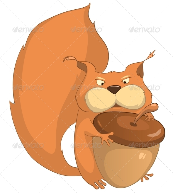 Cartoon Character Squirrel - Animals Characters