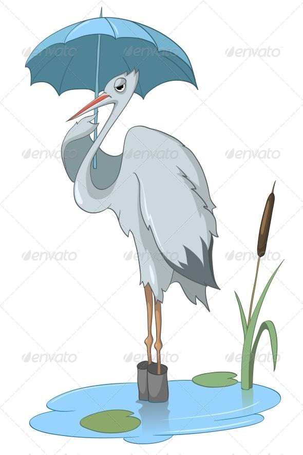 Cartoon Character Stork - Animals Characters
