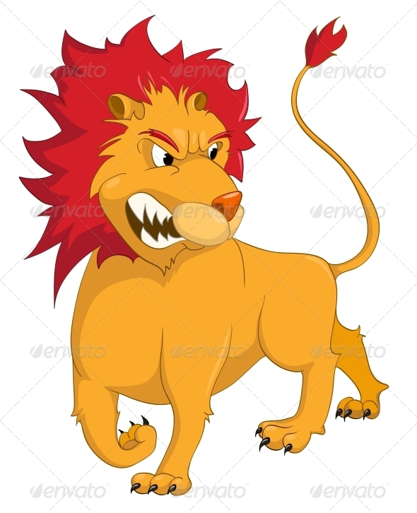 Cartoon Character Lion - Animals Characters
