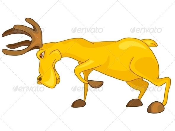 Cartoon Character Elk - Animals Characters