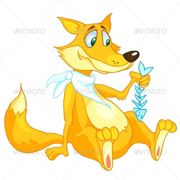 Cartoon Character Fox - Animals Characters