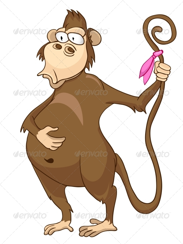 Cartoon Character Monkey - Animals Characters