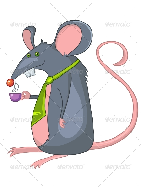 Cartoon Character Rat - Animals Characters